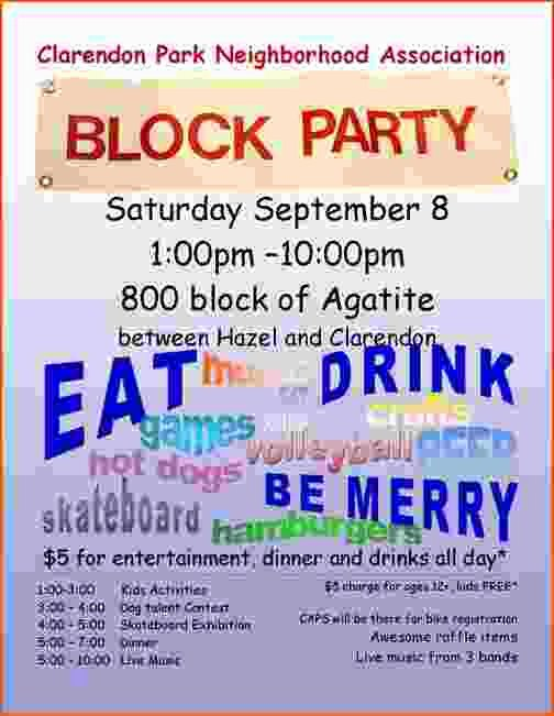 4 Block Party Flyer Template Bookletemplate