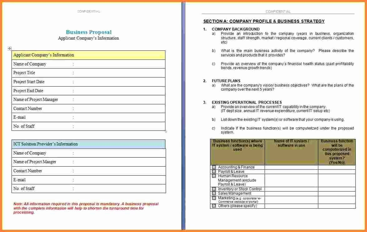 4 Business Proposal Template Microsoft Word