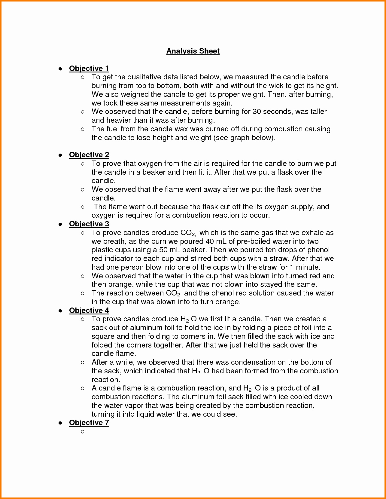 4 Chemistry Lab Report Template