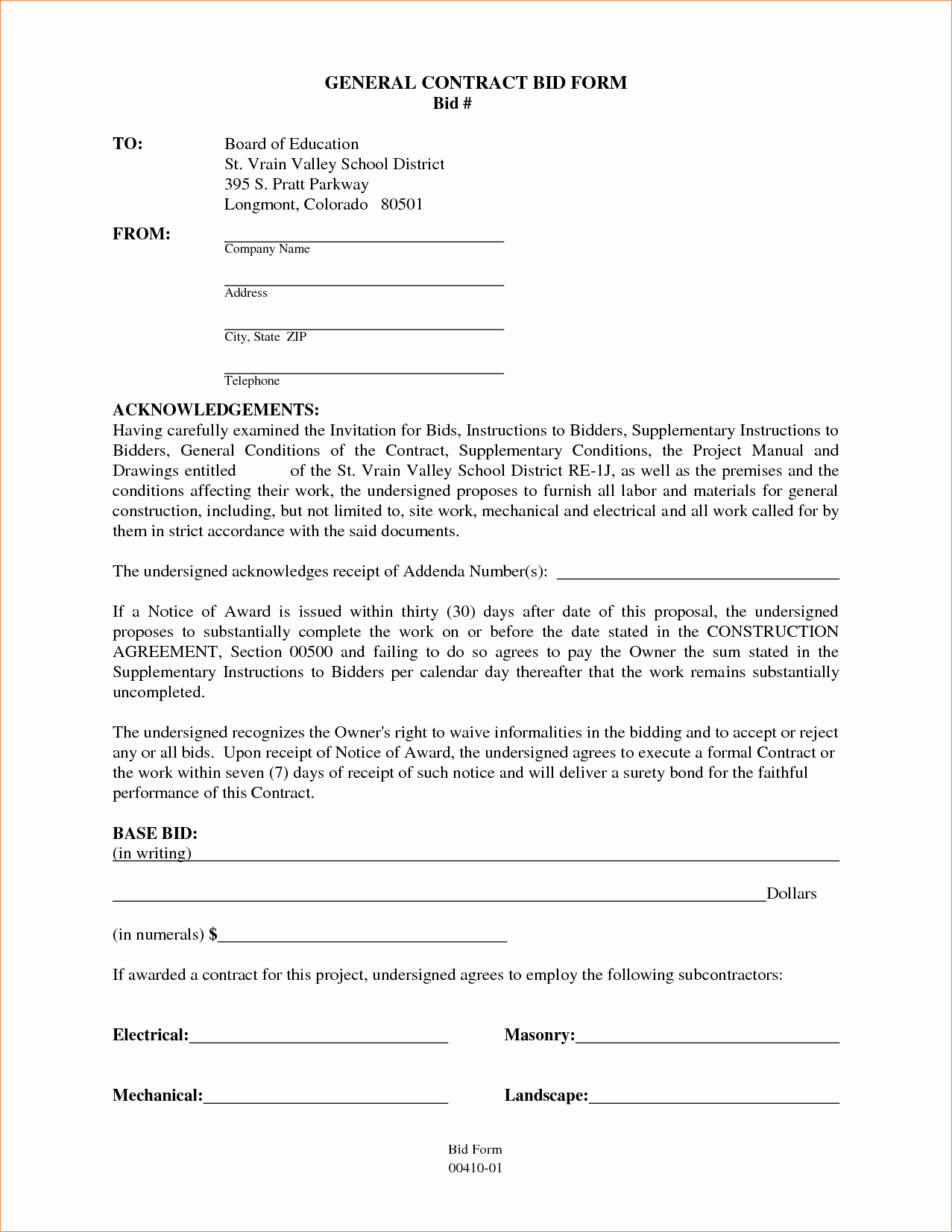 4 Contractor Contract Templatereport Template Document