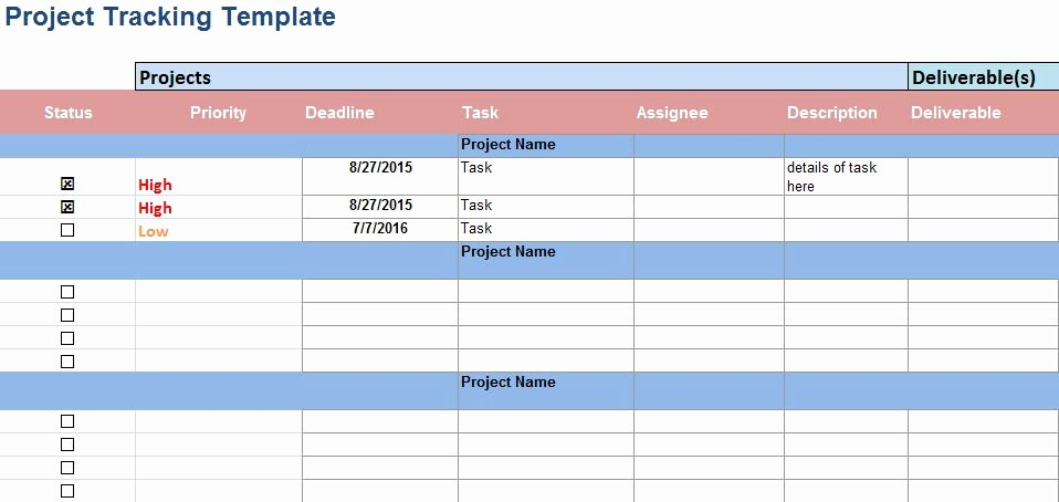 4 Download Multiple Project Tracking Templates In Excel