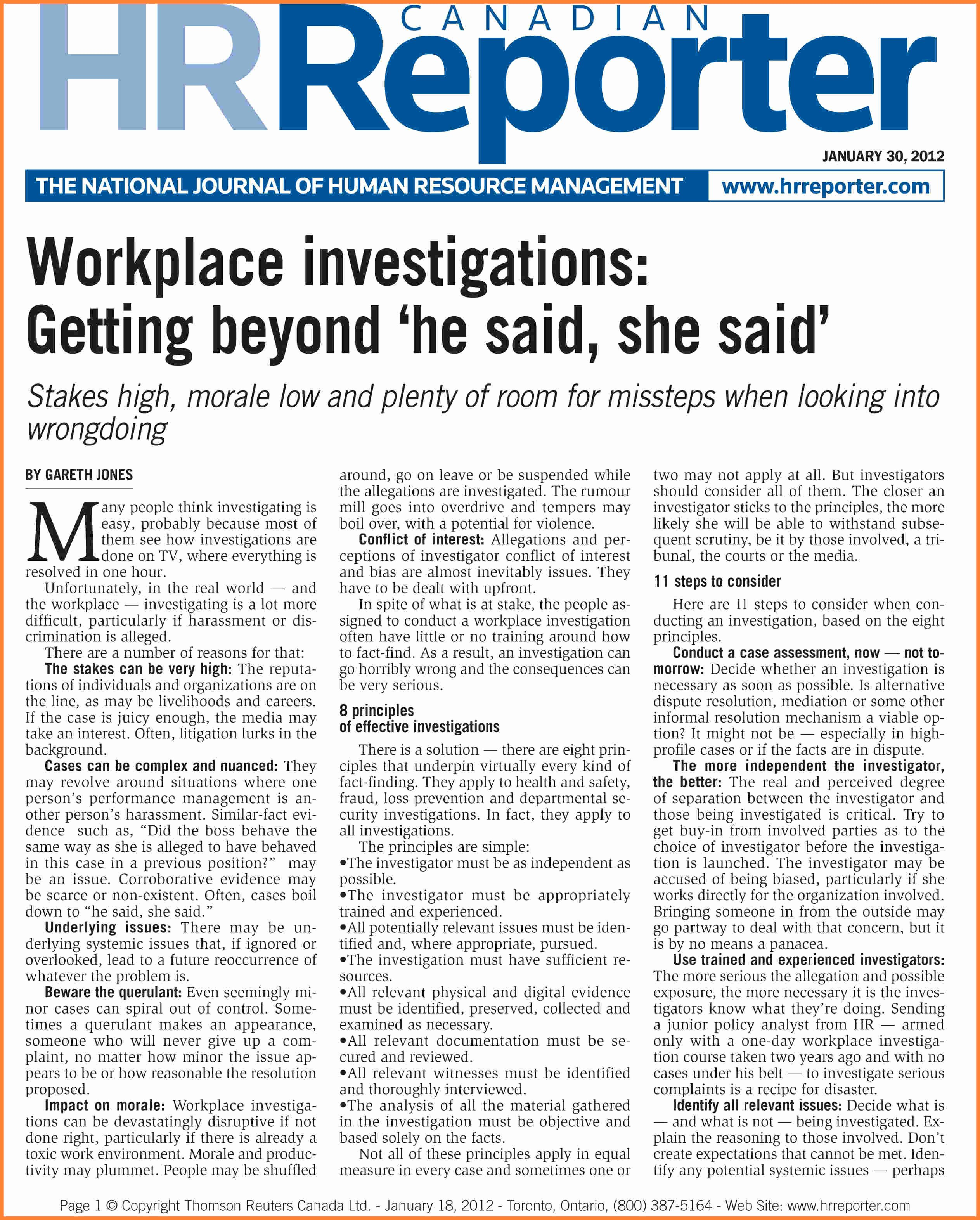 4 Employee Investigation Report Template