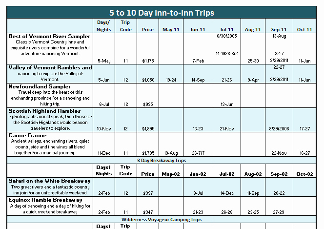 4 Excel Vacation Itinerary Templates Excel Xlts