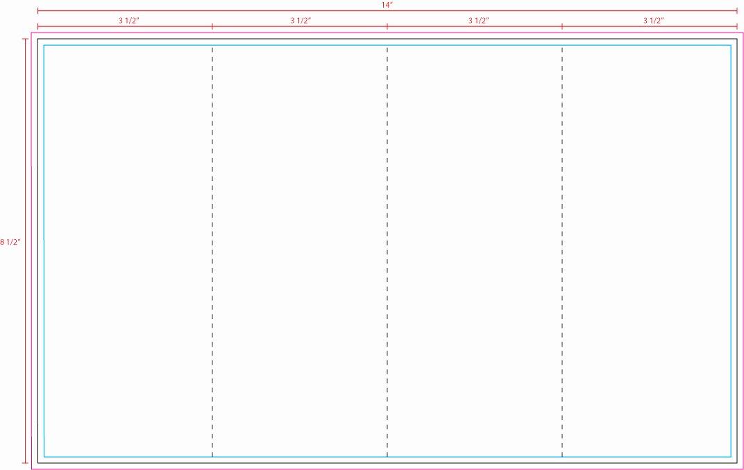 4 Fold Brochure Template Word 1485 4panel Z Fold Best
