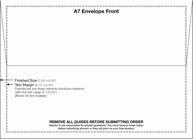 4 Free Printable A7 Envelope Templates
