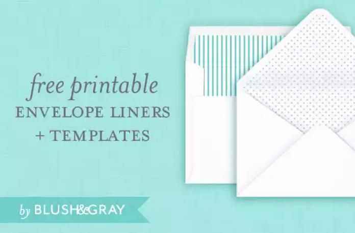 4 Free Printable A7 Envelope Templates