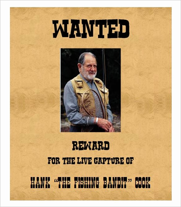 4 Free Wanted Poster Templates Excel Pdf formats