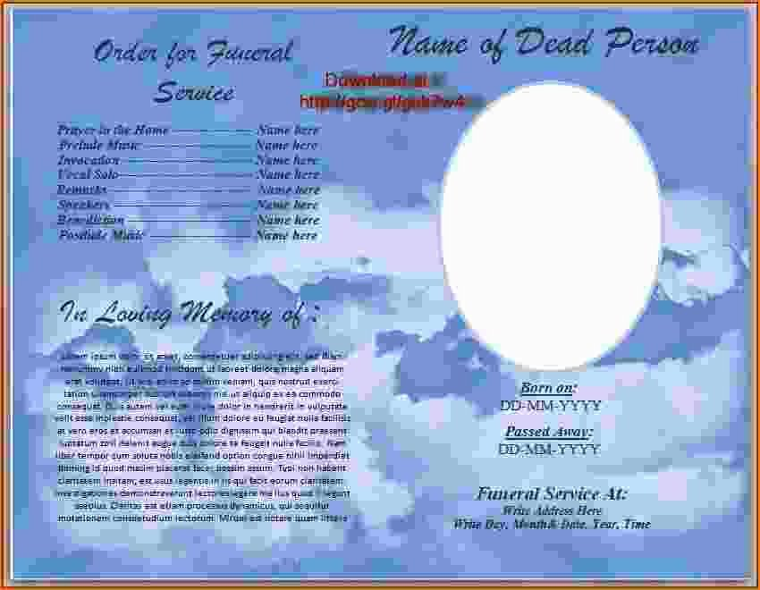 4 Funeral Program Template Word