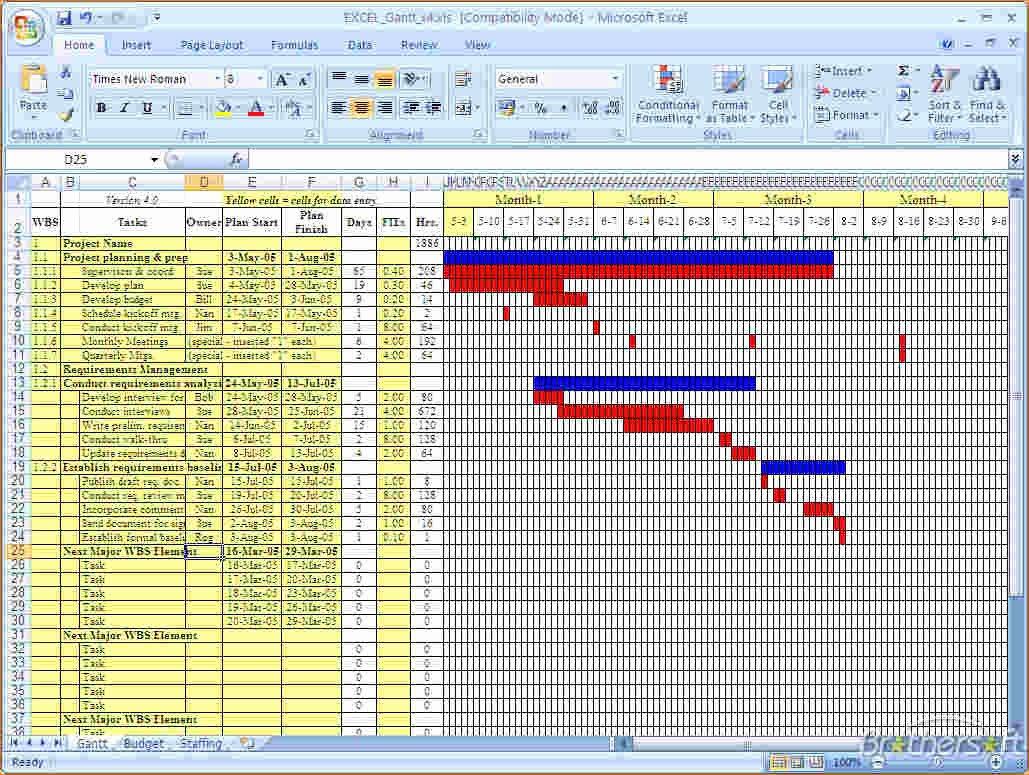 4 Gantt Chart Excel