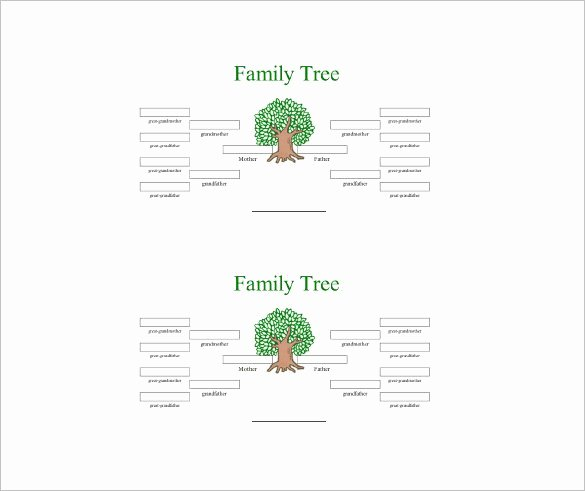 4 Generation Family Tree Template – 12 Free Sample