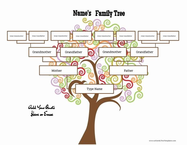 family tree templates four generations