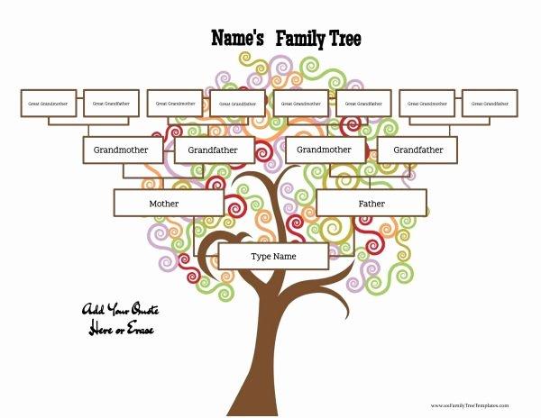 family tree templates four generations