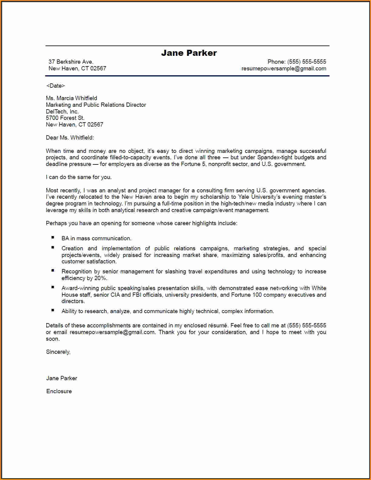 4 Good Cover Letters for Resume