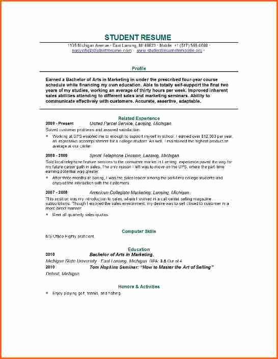 4 Grad School Resume Template Bud Template Letter