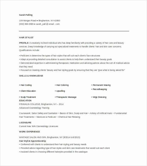 4 Hair Stylist Cover Letters