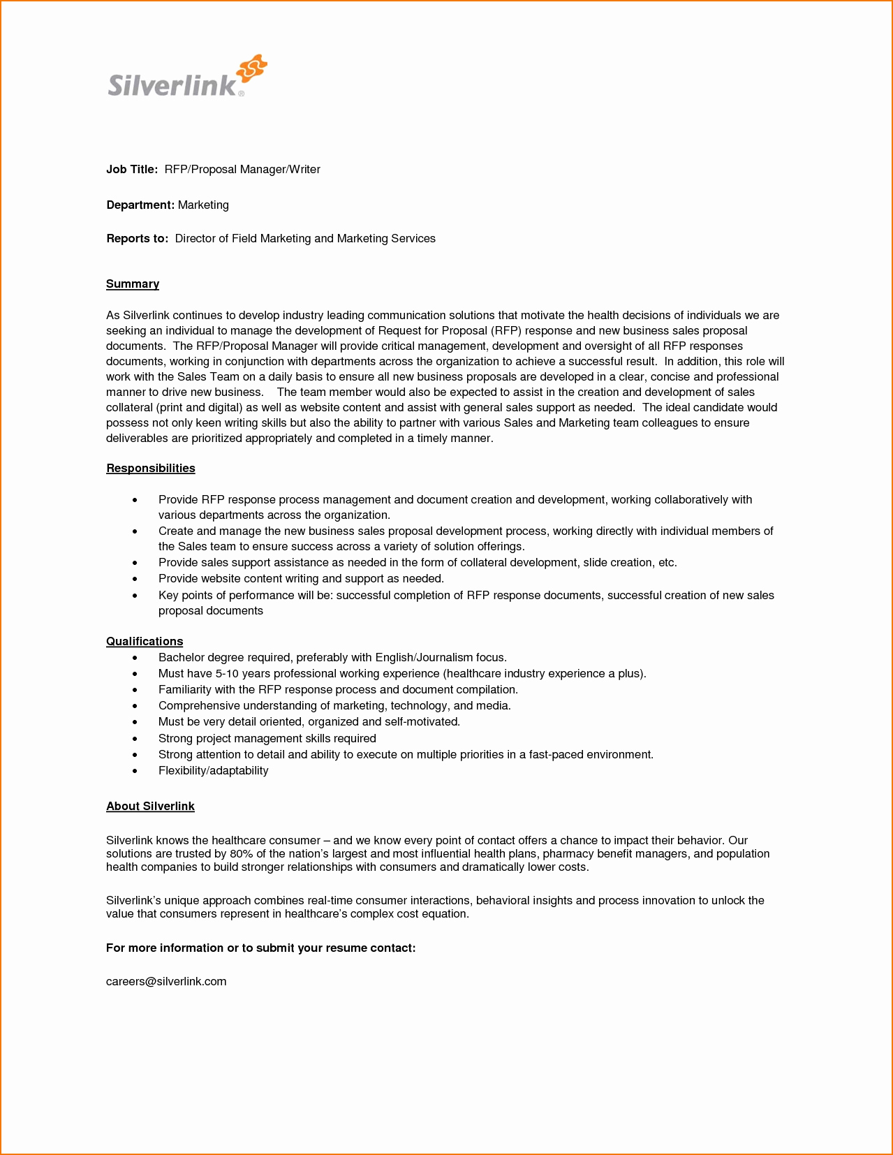 4 Job Proposal Sample