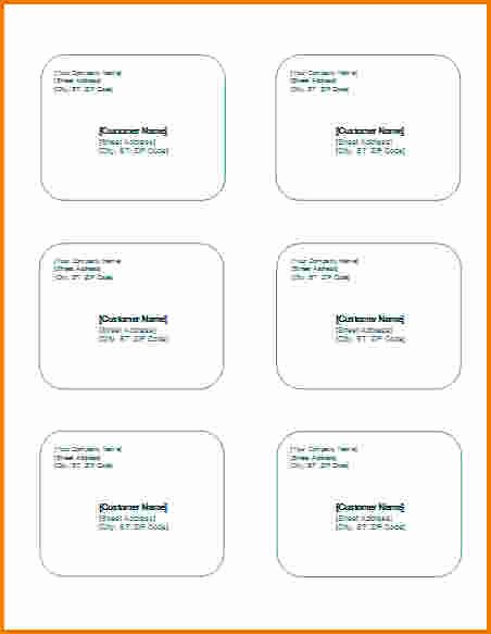 4 Mailing Label Template Word