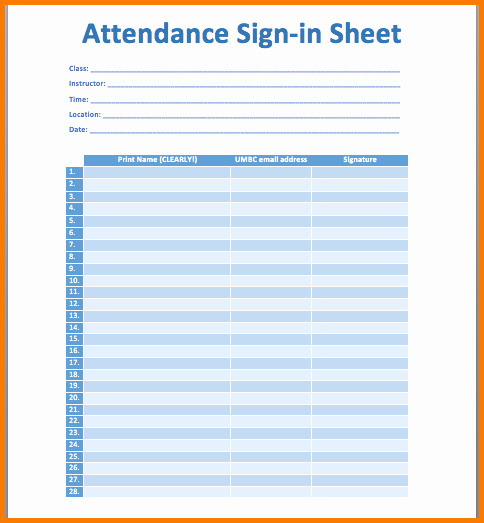 4 Meeting attendance Sheet