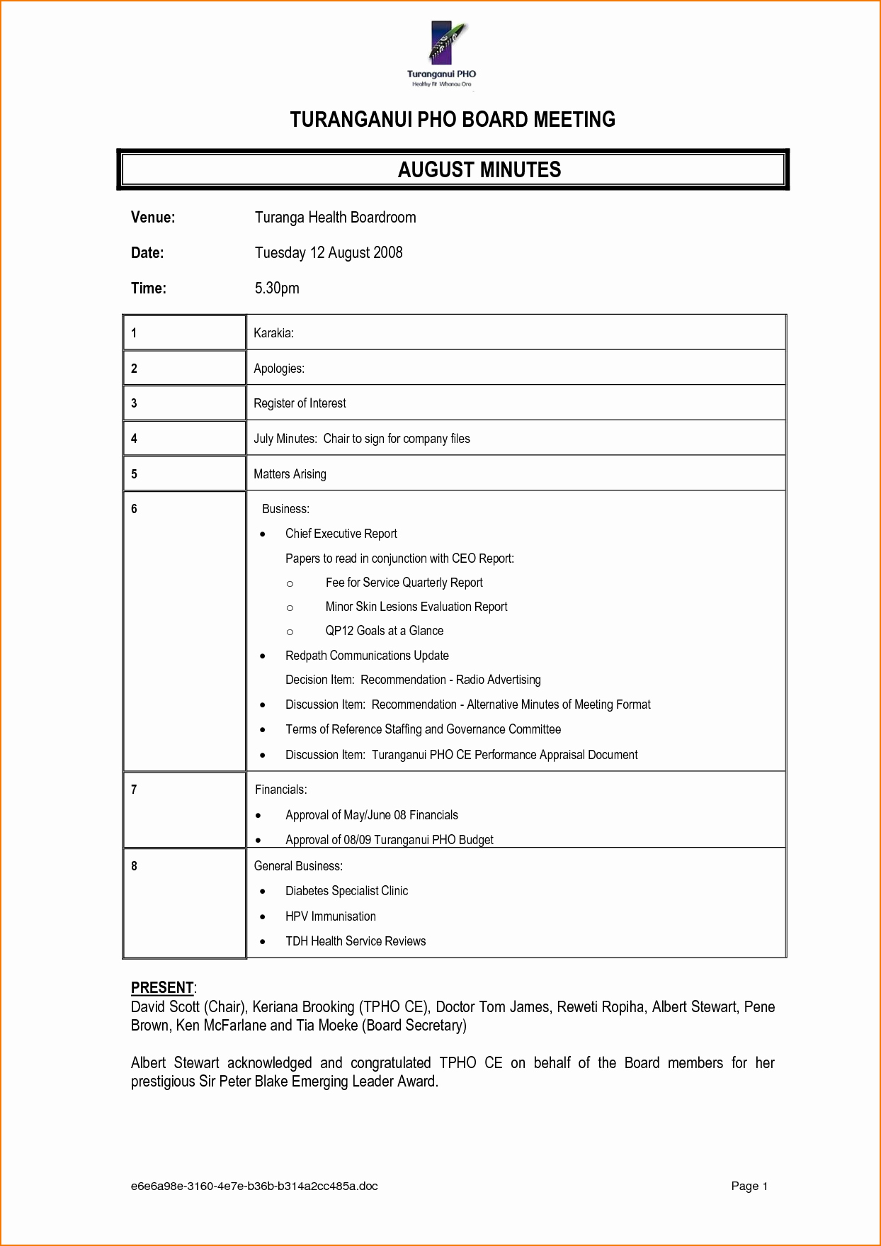 4 Meeting Notes format
