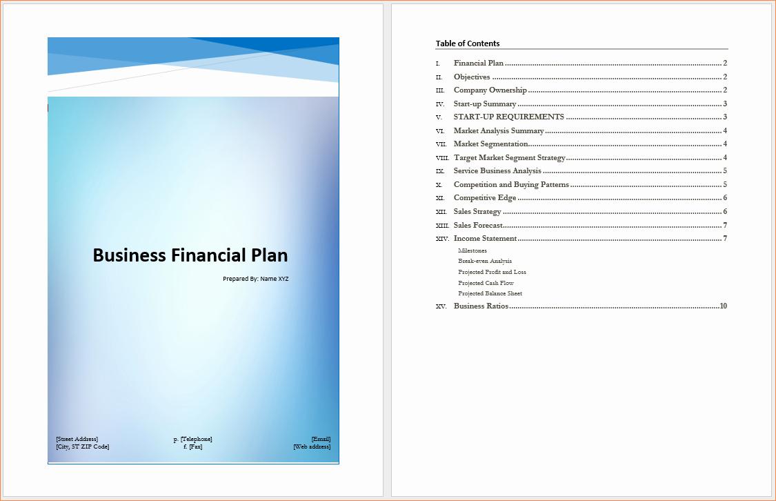 4 Microsoft Business Plan Template