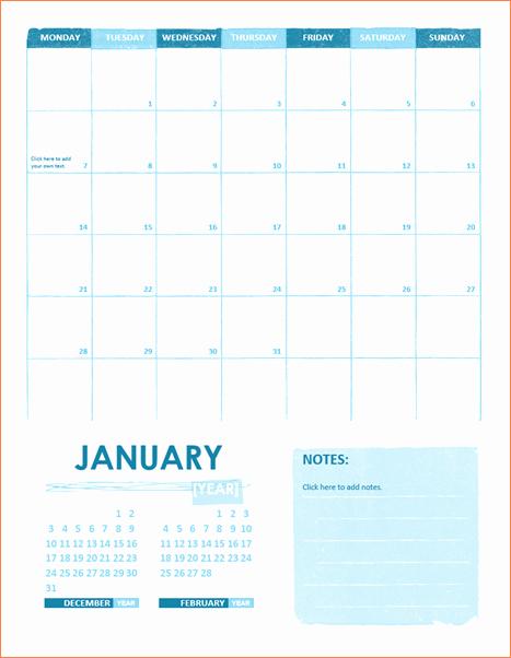 4 Microsoft Calendar Templates