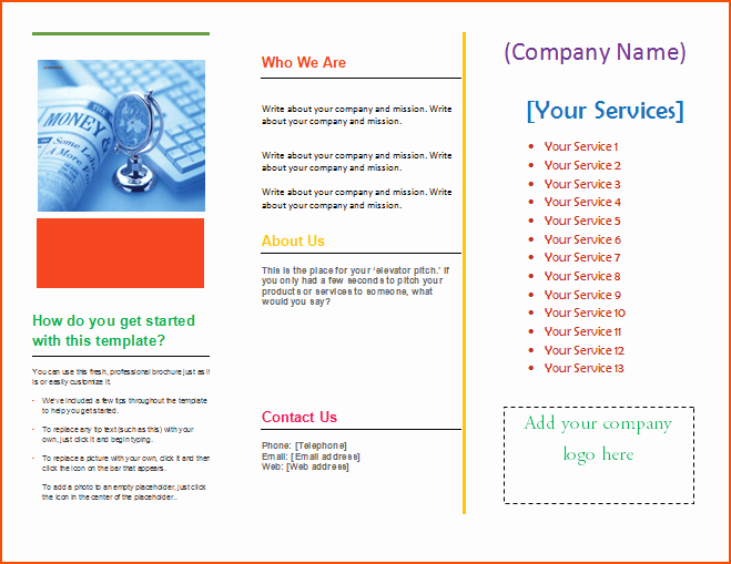 4 Pamphlet Template Word Bookletemplate