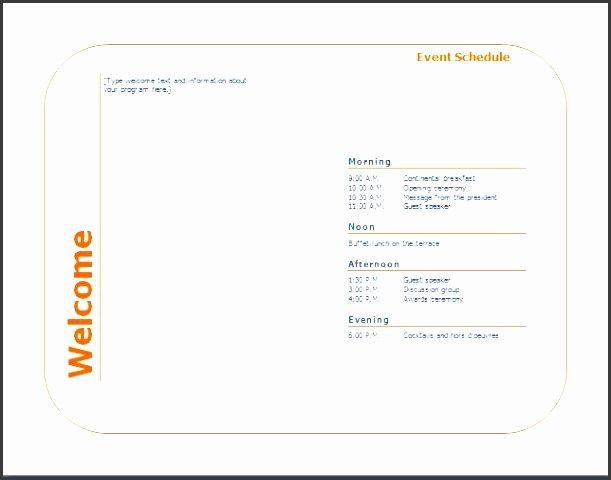 4 Personal event Program Template Sampletemplatess