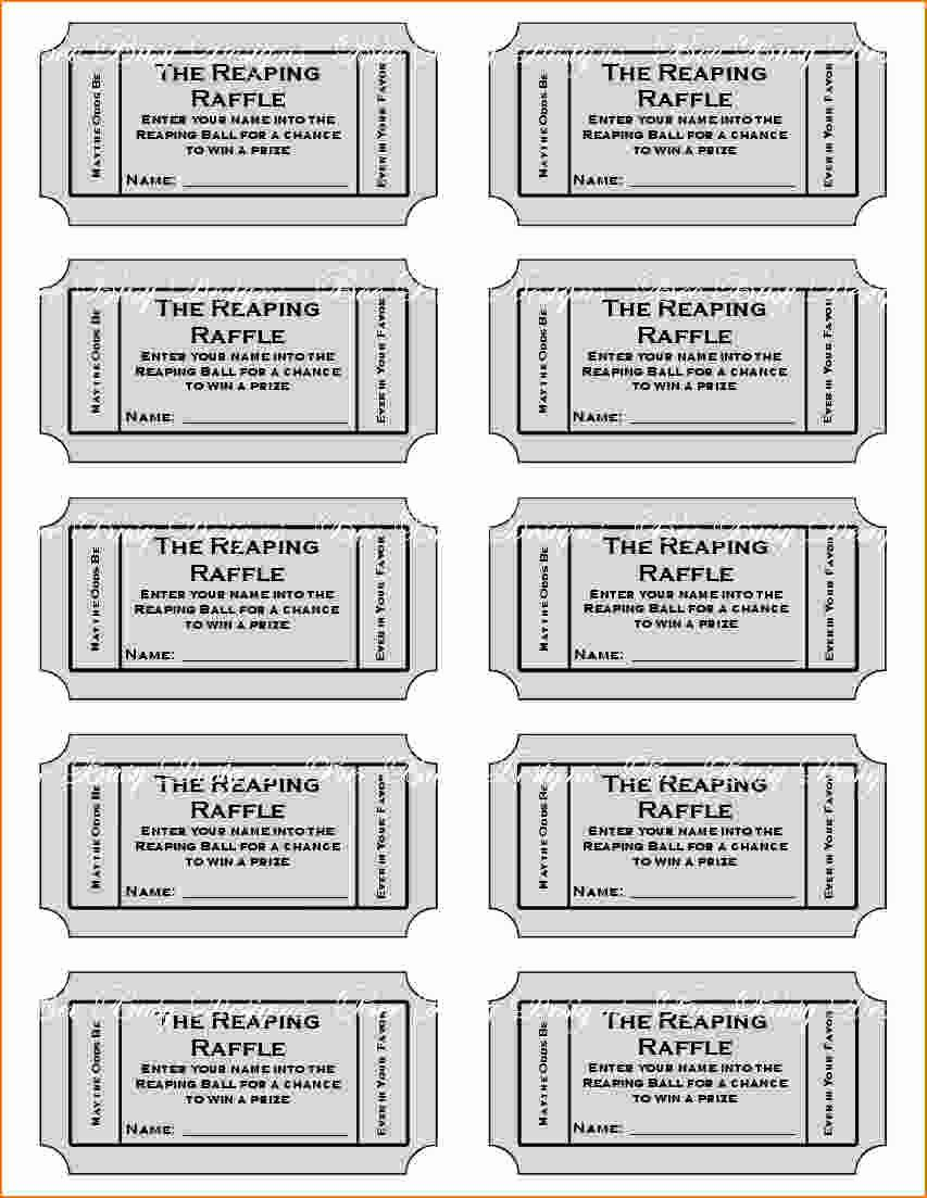 4 Printable Raffle Tickets