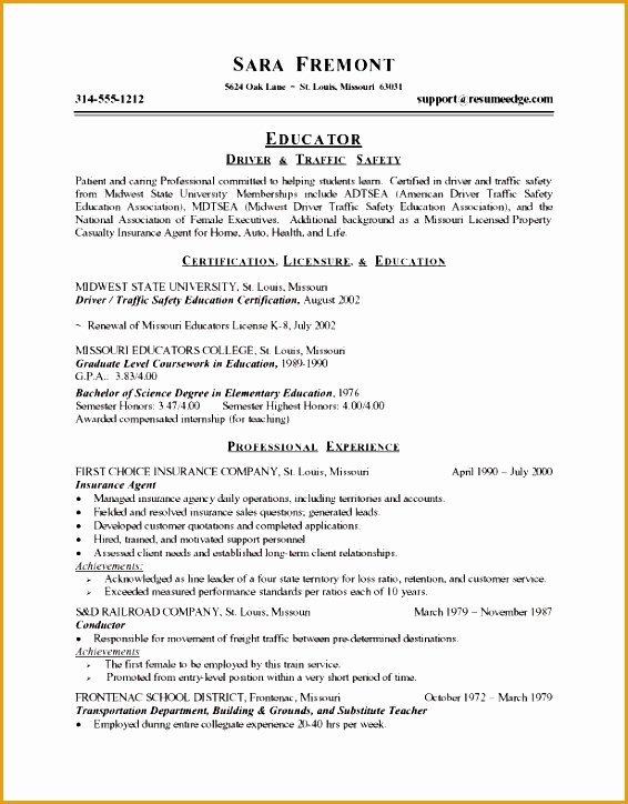 4 Resume Objective Statement for Teacher Free Samples