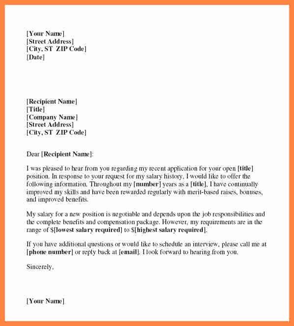 4 Salary Letter From Employer Sample