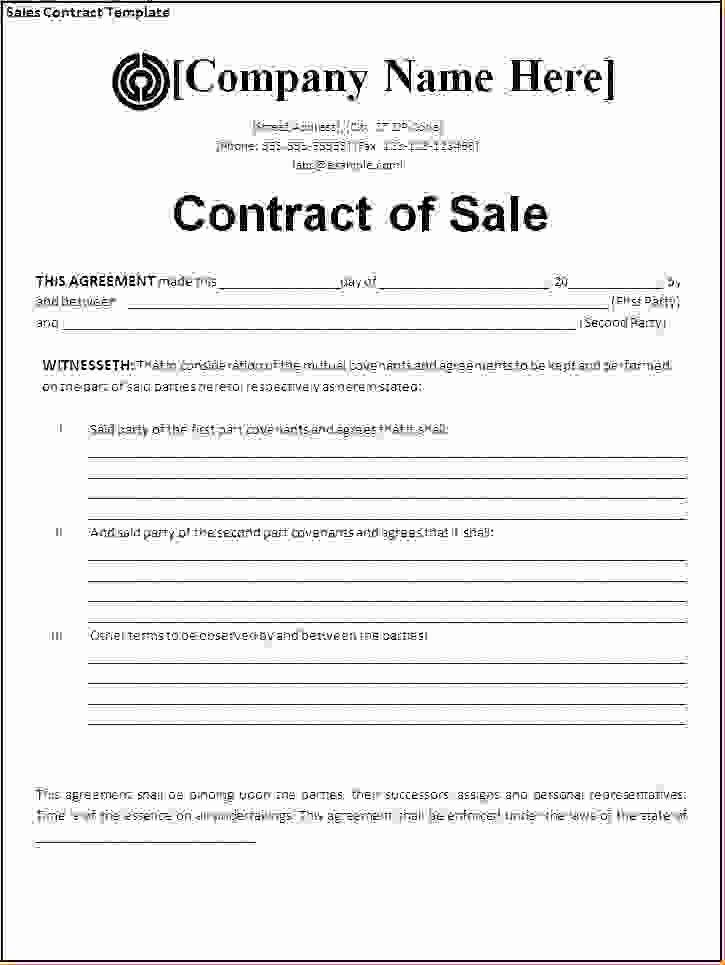 4 Sales Agreement Templatereport Template Document