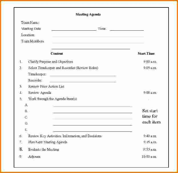 4 Sample Meeting Agenda Template