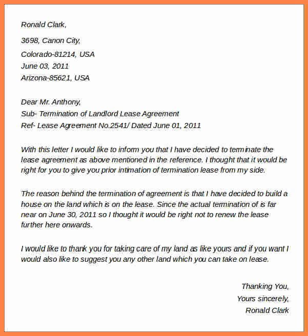 4 Sample Termination Of Lease Agreement Letter