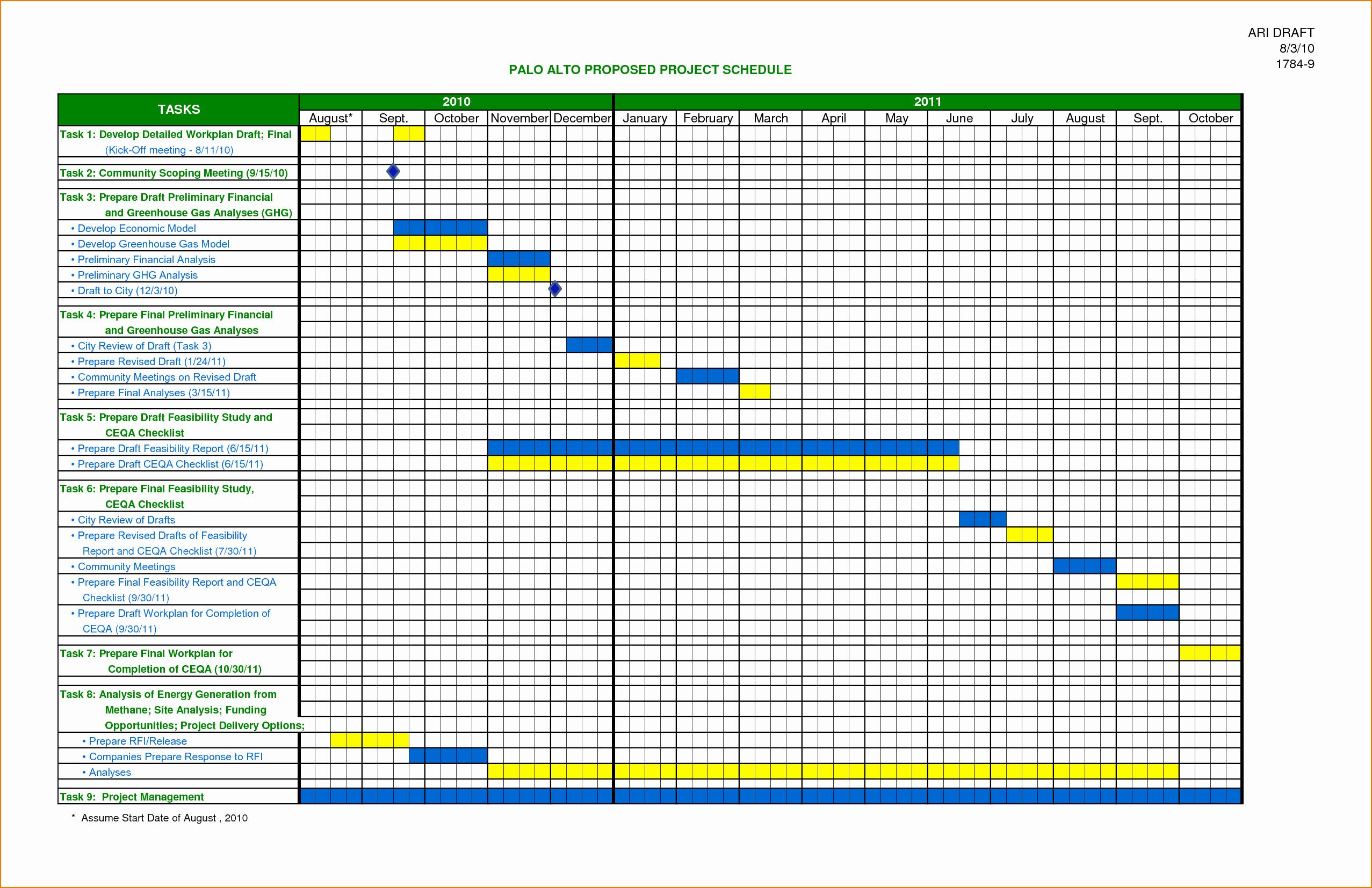 4 Schedule Template Excel