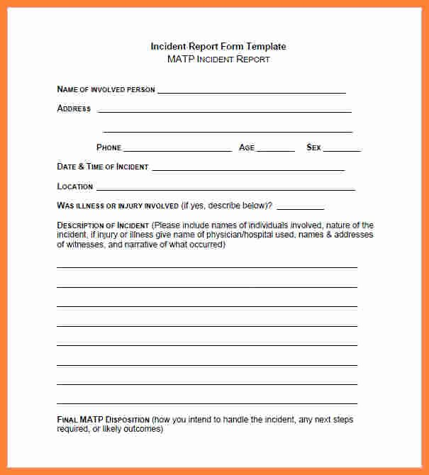 4 Security Guard Incident Report Template