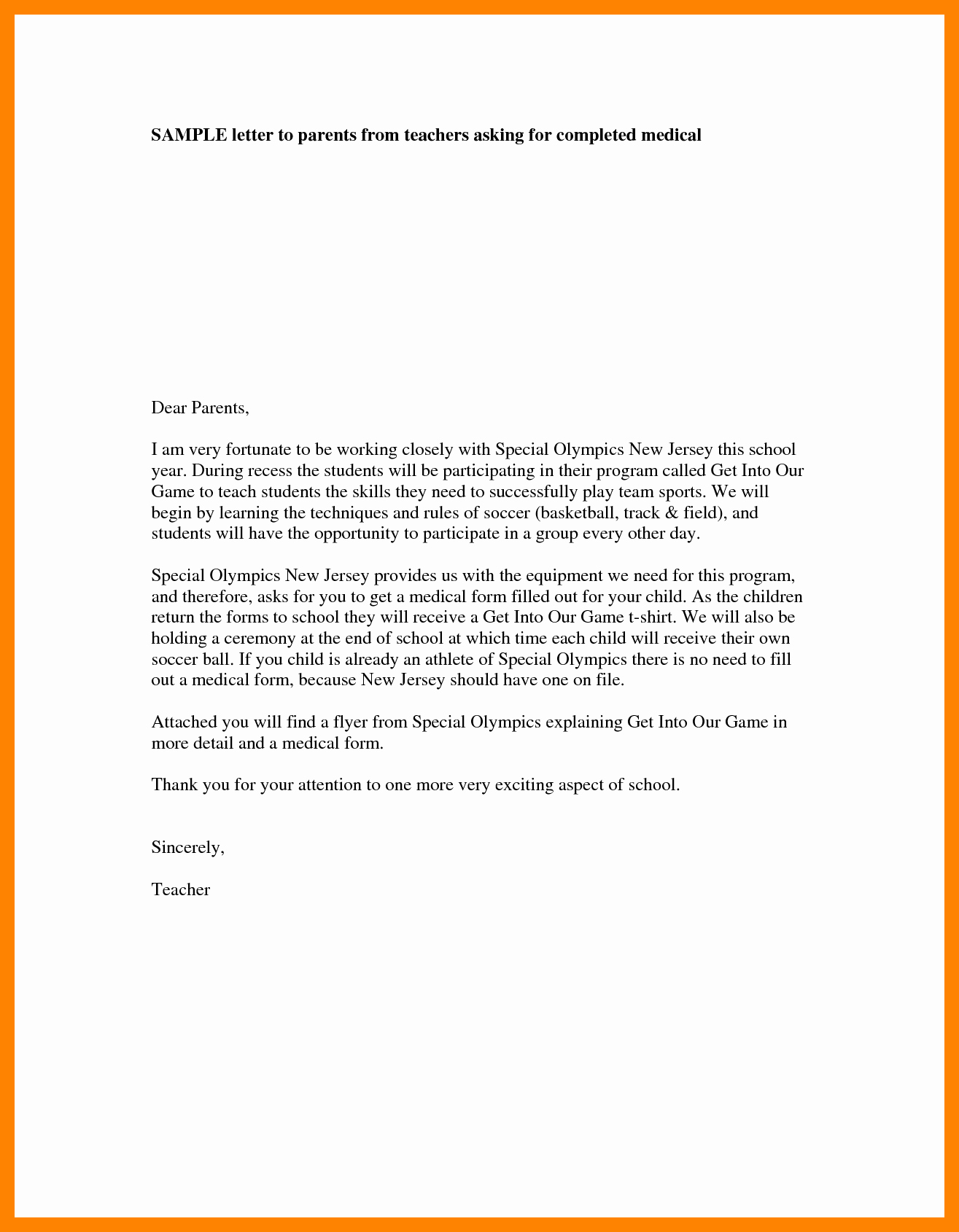 4 Teacher Introduction Letter to Parents Template