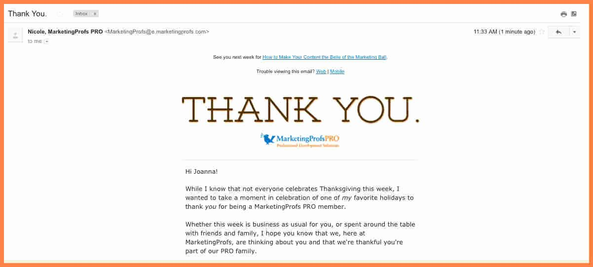 4 Thank You for Your Purchase Email Template