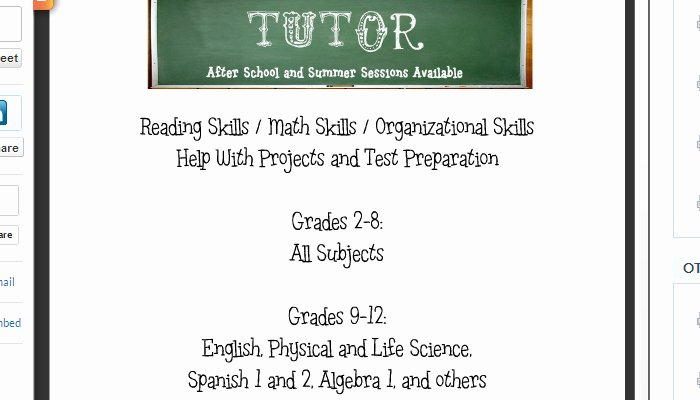 4 Tutoring Flyer Templates