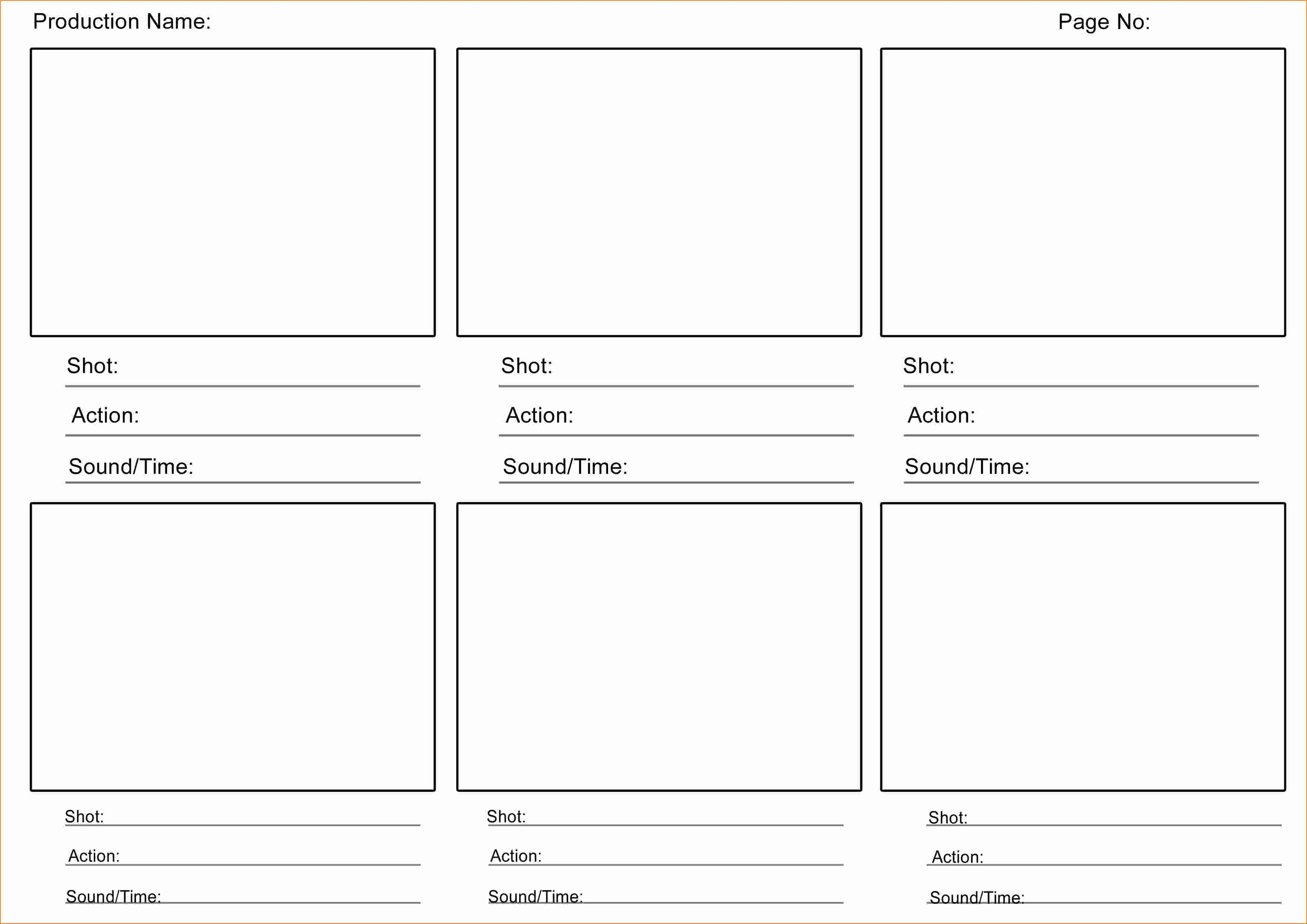 4 Video Storyboard Template
