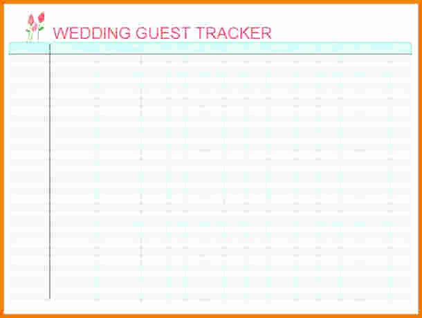 4 Wedding Guest List Excel