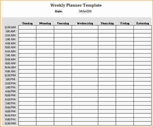 4 Weekly Hourly Calendar