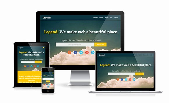 40 Beautiful Landing Page Templates
