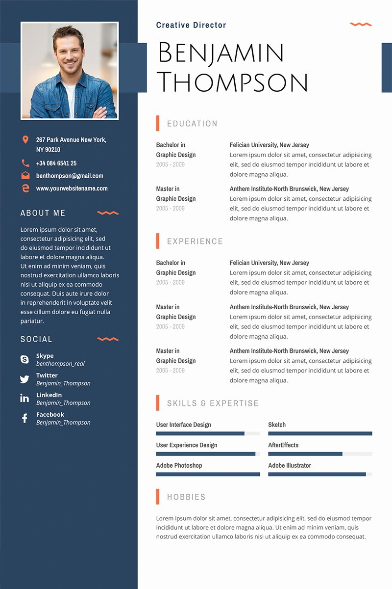 40 Best 2018 S Creative Resume Cv Templates