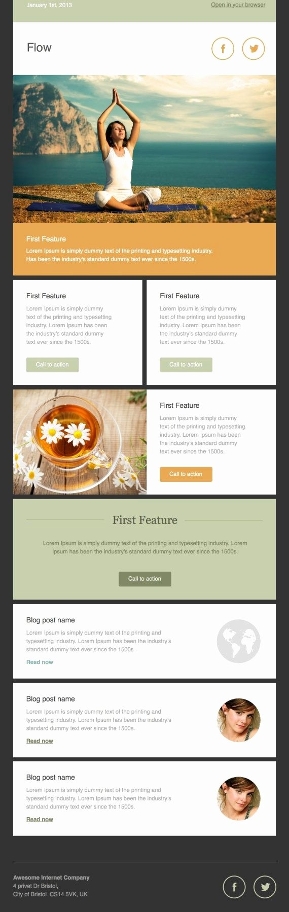 40 Best Email Newsletter Templates HTML Psd Free