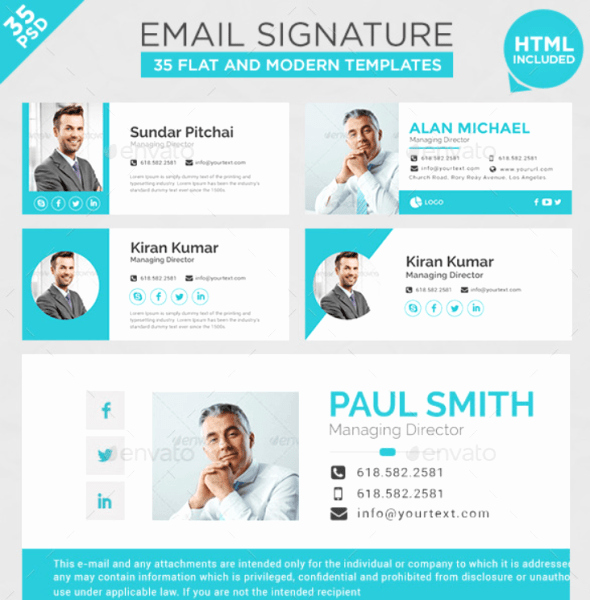 40 Best Email Signature Templates – Psd & HTML Download