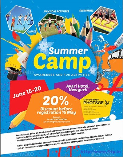 40 Best Kids Summer Camp Flyer Print Templates 2016