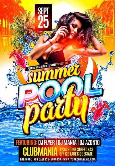 40 Best Summer Pool Party Flyer Print Templates 2016