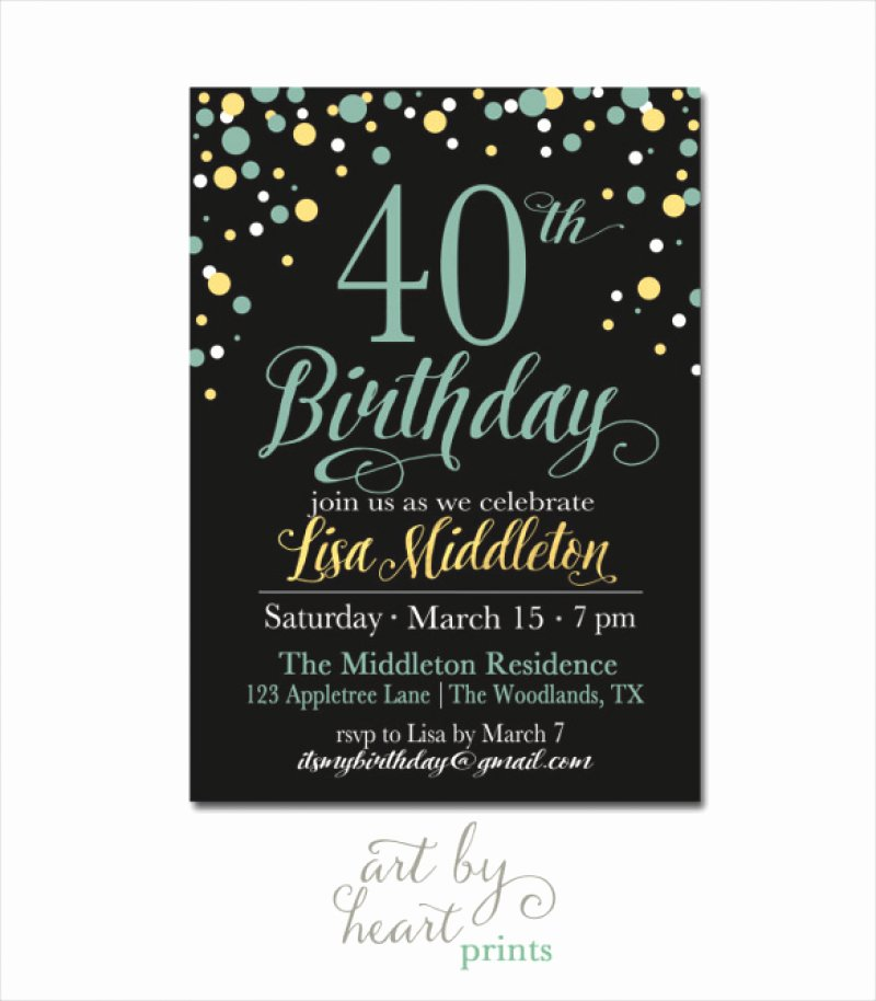 40 Birthday Invitation Template – orderecigsjuicefo