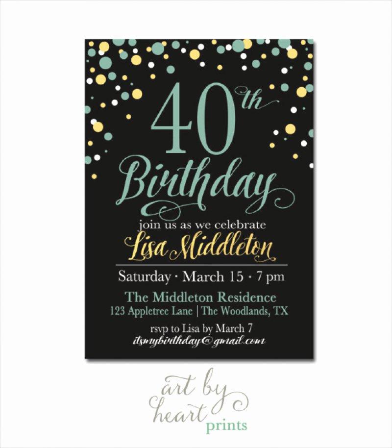40 Birthday Invitation Template – orderecigsjuicefo