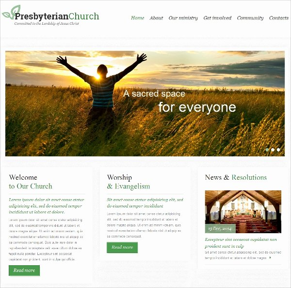 40 Church Website themes & Templates
